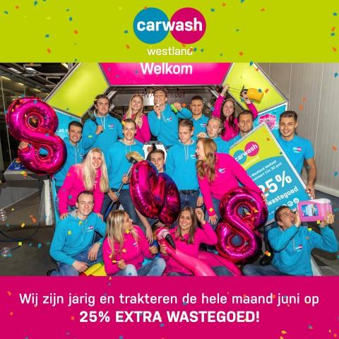 Carwash Westland bestaat 8 jaar en trakteert!