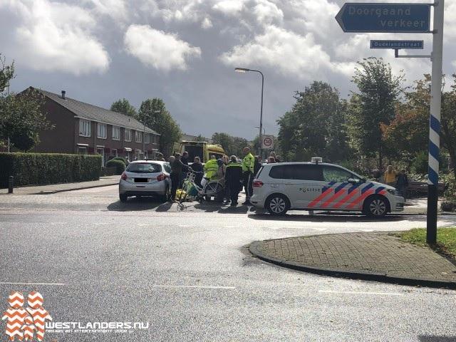 Fietsster geschept op Oudelandstraat