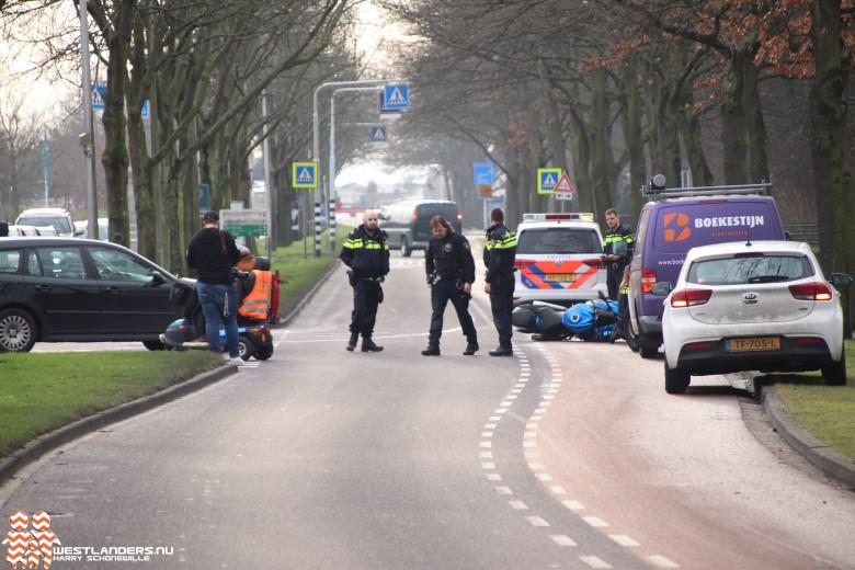 Motorrijder licht gewond na ongeluk