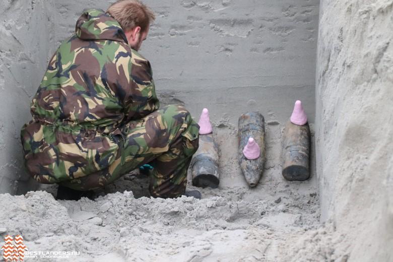 Opnieuw granaten uit 1e wereldoorlog geruimd