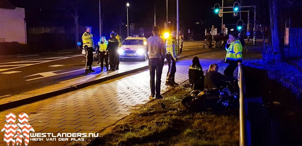 Motorrijder gewond na klapper op Galgeweg