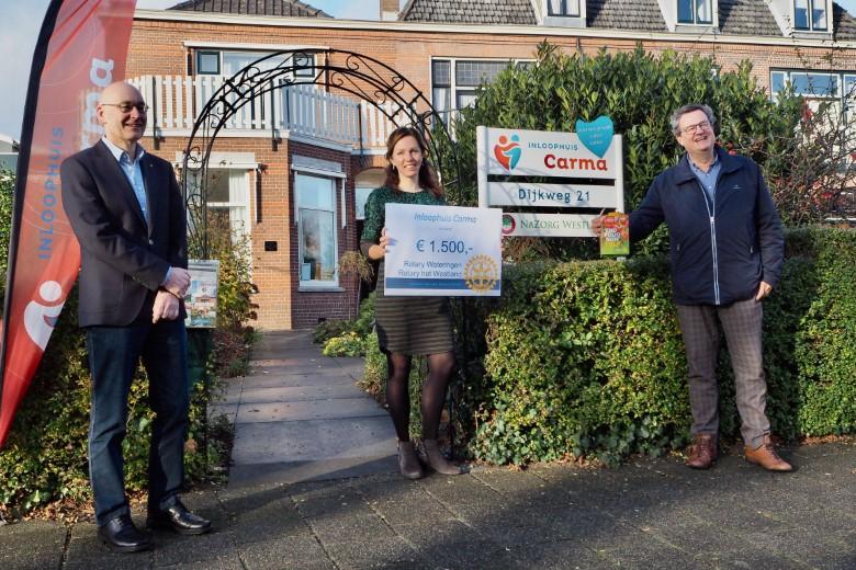 Rotaryclubs steunen Inloophuis Carma