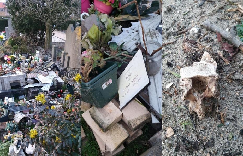 Menselijke resten op begraafplaats gaan naar knekelput