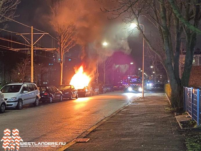 Voertuigbrand aan de Erasmusweg