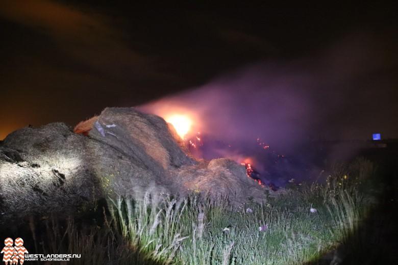 Bermbrand langs de Westlandroute