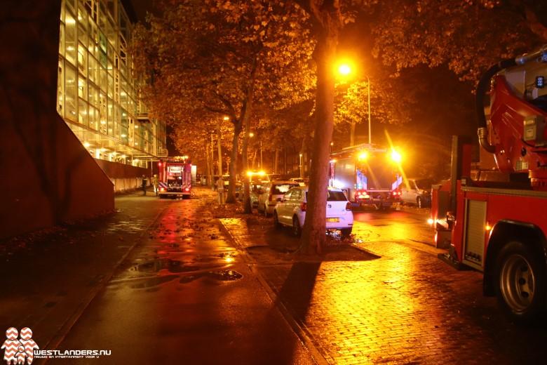 Autobrand in ondergrondse parkeergarage