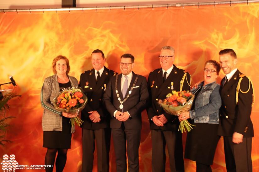 Koninklijke onderscheiding voor brandweervrijwilligers Naaldwijk