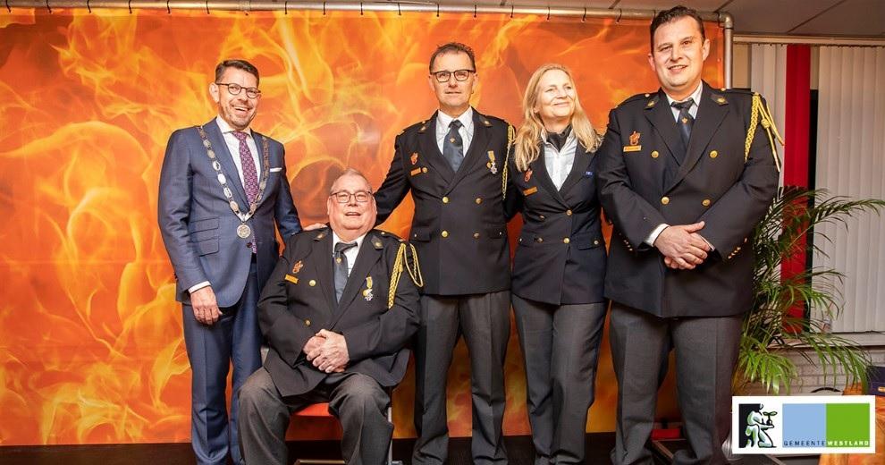 Koninklijke onderscheidingen voor brandweervrijwilligers Monster