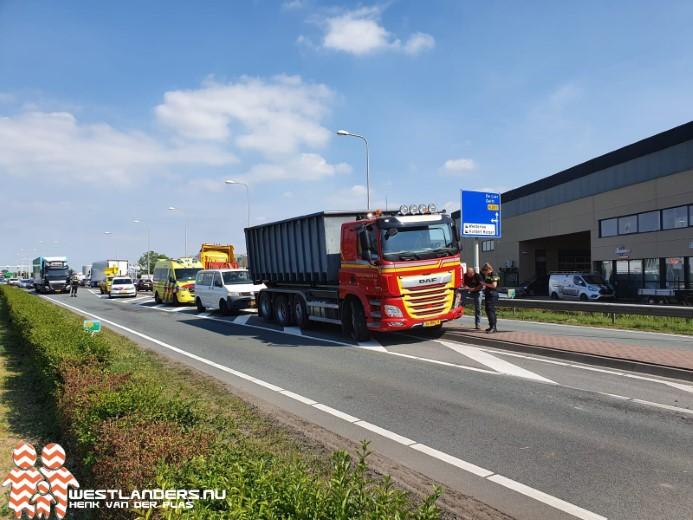 Ongeluk na verkeerde inhaalmanoeuvre op N223