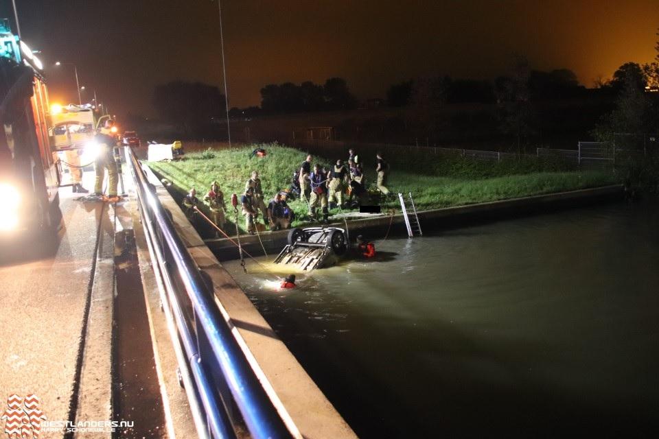 Man overleden na auto te water N223