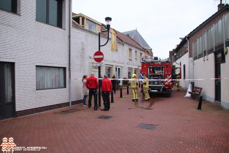 Gebouwbrand bij winkel Prinses Margrietstraat
