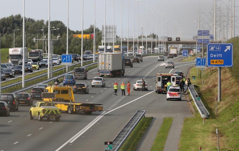 Gewonde bij ongeval met meerdere voertuigen op de A4