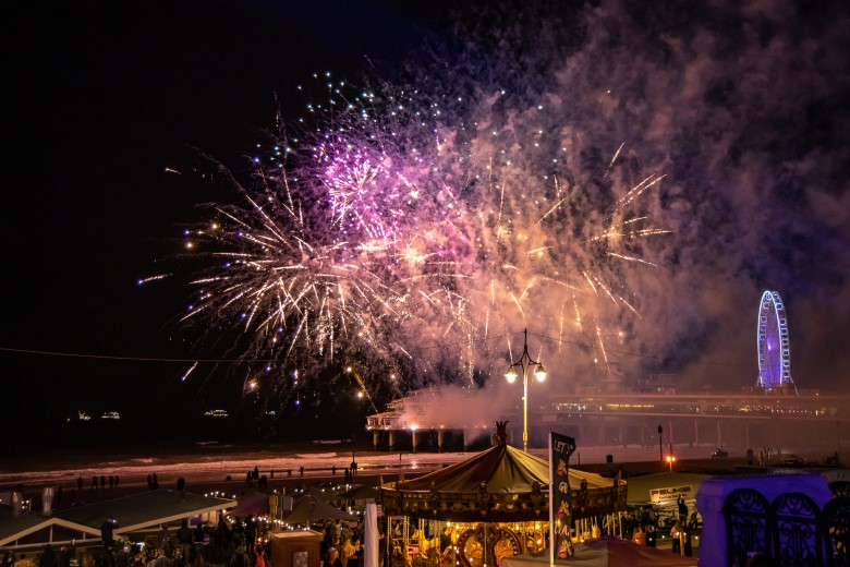 Vuurwerkshow bij de Pier in Scheveningen