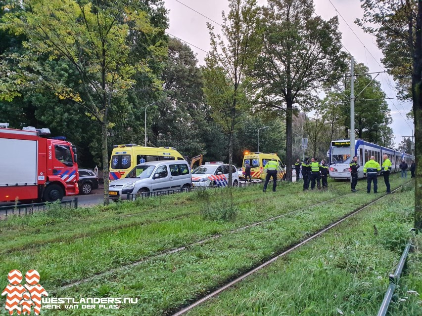 Voetgangster botst met tram