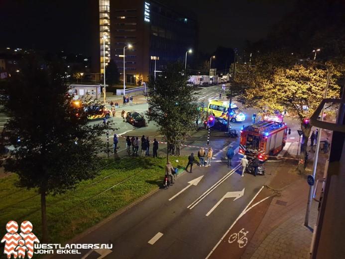 Twee gewonden bij ongeluk Melis Stokelaan