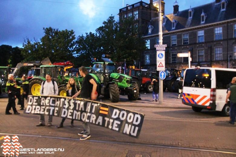 Boerenprotest in Haagse binnenstad