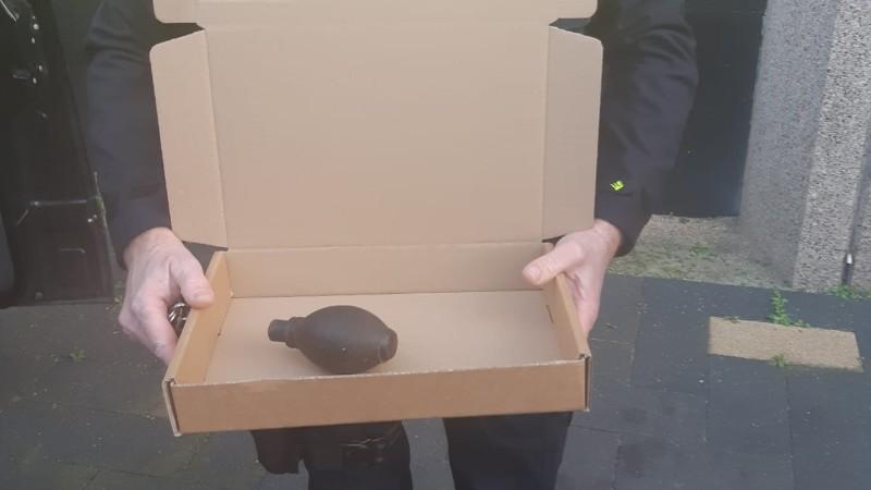 Verdacht pakketje hoofdbureau politie blijkt handgranaat