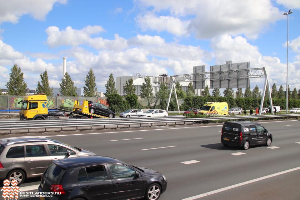 Weer ongeluk op A4 bij Den Hoorn
