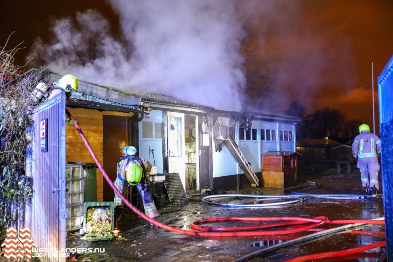 Middelbrand bij kinderboerderij Sparrendal