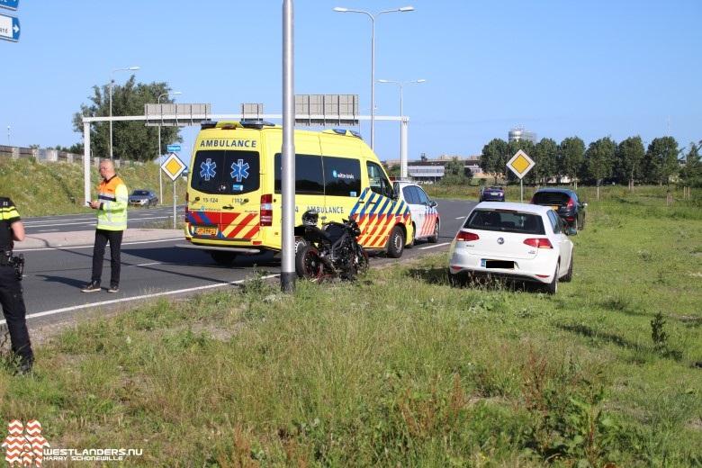 Motorrijder gewond na ongeluk op N222