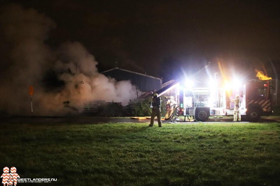 Brand in bijgebouw langs de N223