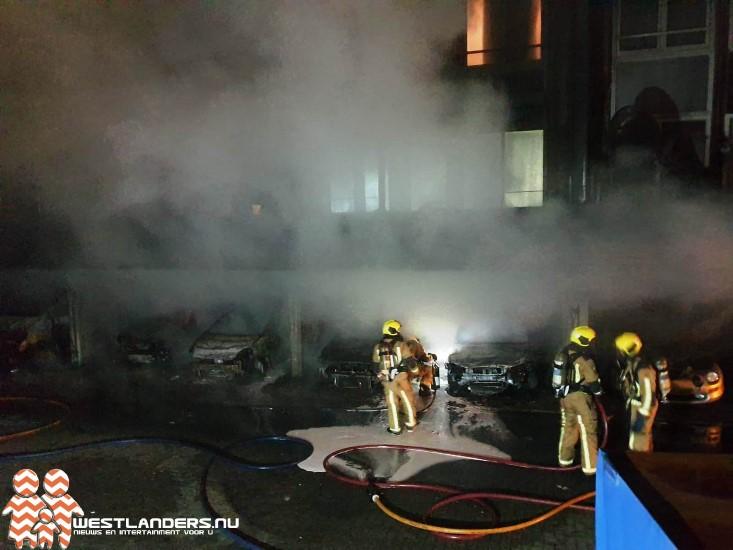 Drie aanhoudingen na GRIP1 brand Laan van Wateringse Veld