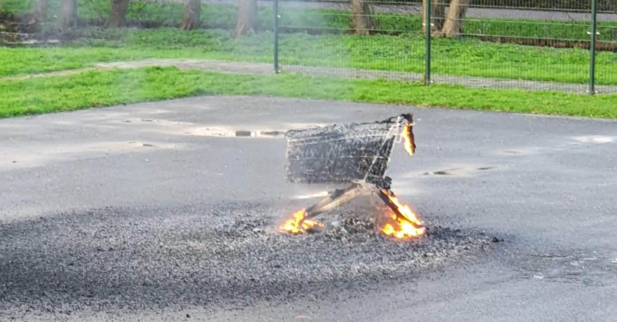 Buitenbrandjes op de oudejaarsmiddag