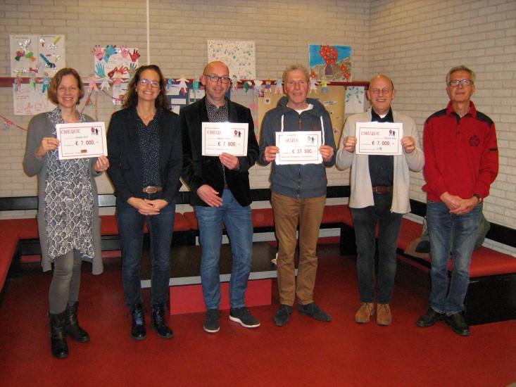 Uitreiking cheques bazar Ontmoetingskerk Naaldwijk