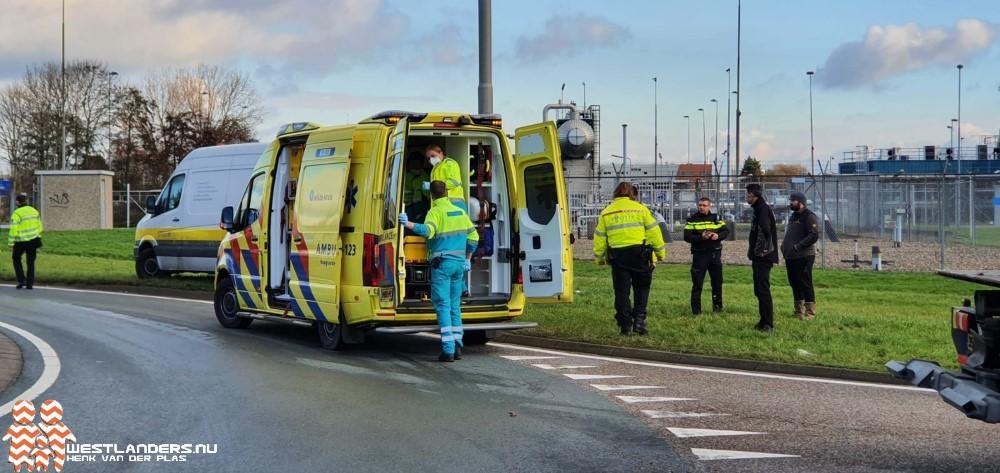 Brommer aangereden door vrachtwagen