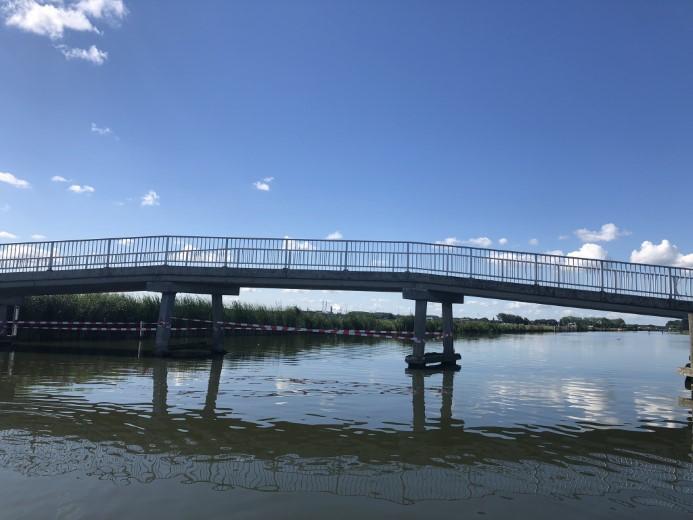 Fietsbrug Boonervliet weer gedeeltelijk open
