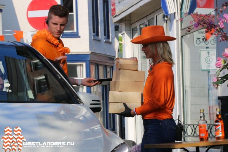 Oranje tompouce drive through groot succes