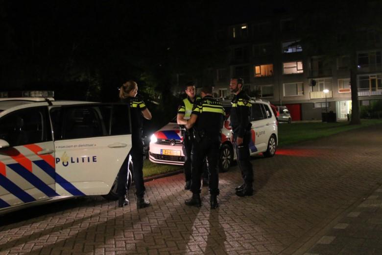 Veel politie inzet bij melding steekpartij Jongkindstraat