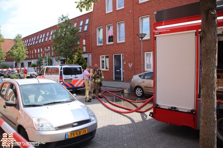 Flinke schuurbrand aan de Burgemeester Wesselinkstraat
