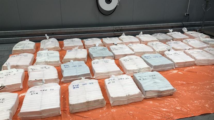 865 kilo cocaïne tussen ananassen
