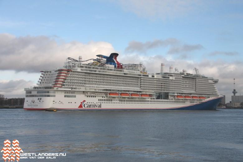 Maiden trip LNG cruiseschip Mardi Gras