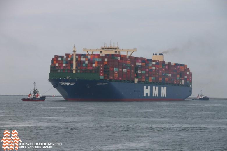 Grootste containerschip ter wereld bij Maasvlakte