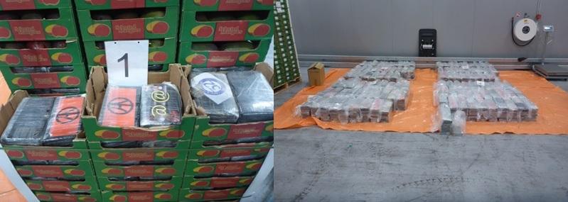 Douane onderschept 1200 kilo cocaïne