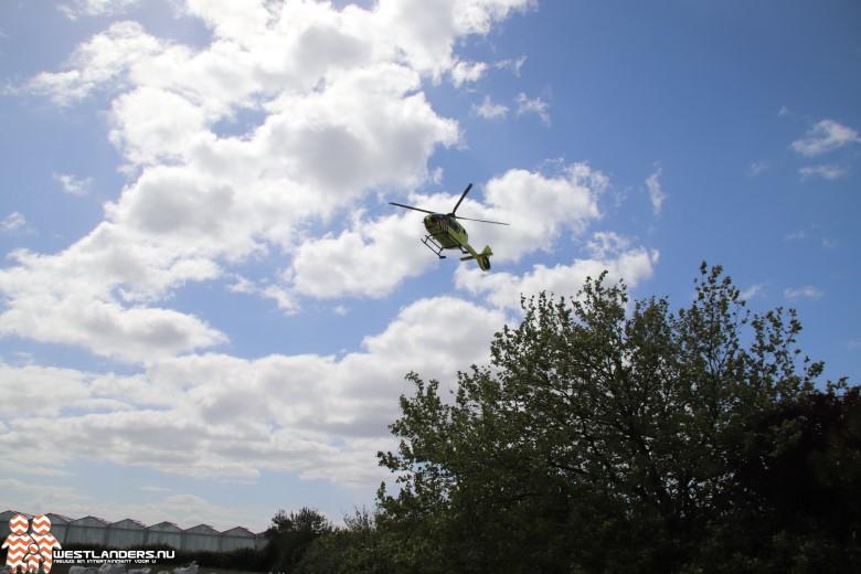 Traumahelikopter inzet aan de Papelaan