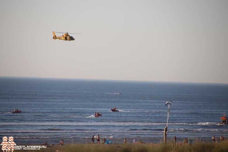 Grote zoekactie op de Zandmotor naar zwemmers in nood