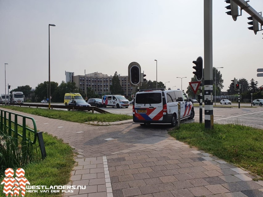 Gewonde bij ongeluk Burgemeester Elsenweg