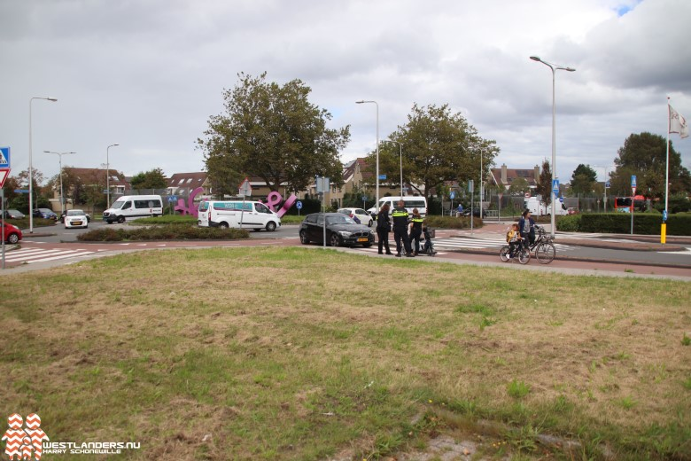 Ongeluk bij rotonde Middel Broekweg