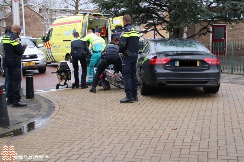 Fietsster gewond bij ongeluk Anjerlaan