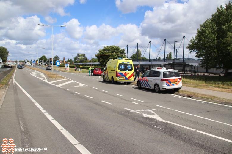 Ongeluk met motor op de Nieuweweg