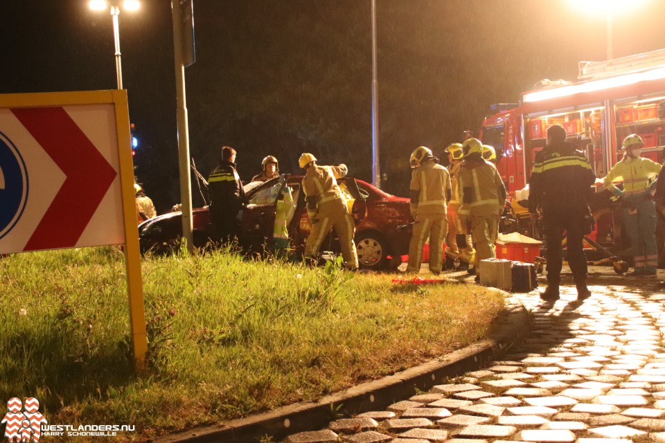 Automobilist gewond bij ongeluk Wateringseweg