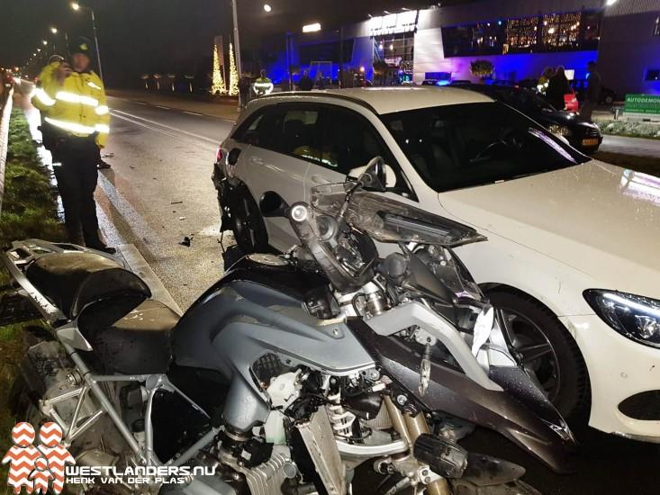 Motorrijder gewond bij ongeluk Nieuweweg