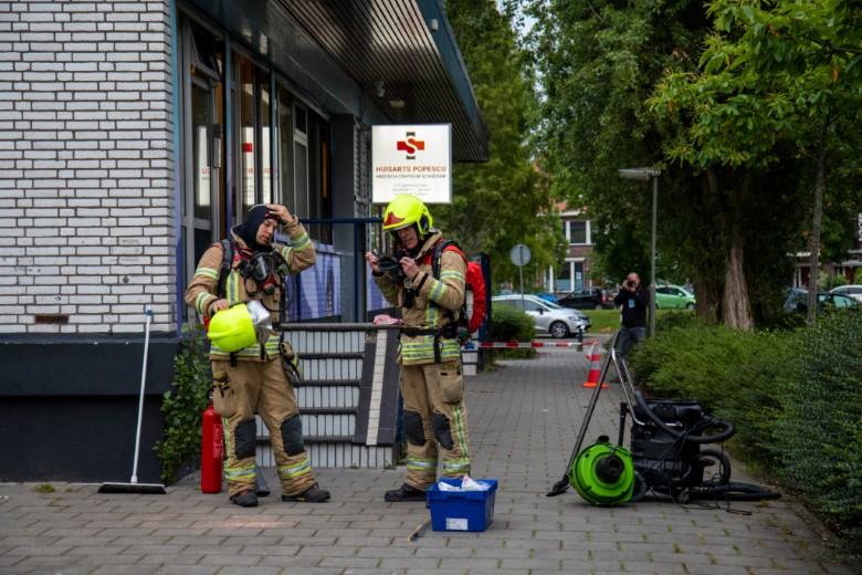 Omgevallen flesje fosfor lastige klus voor brandweer