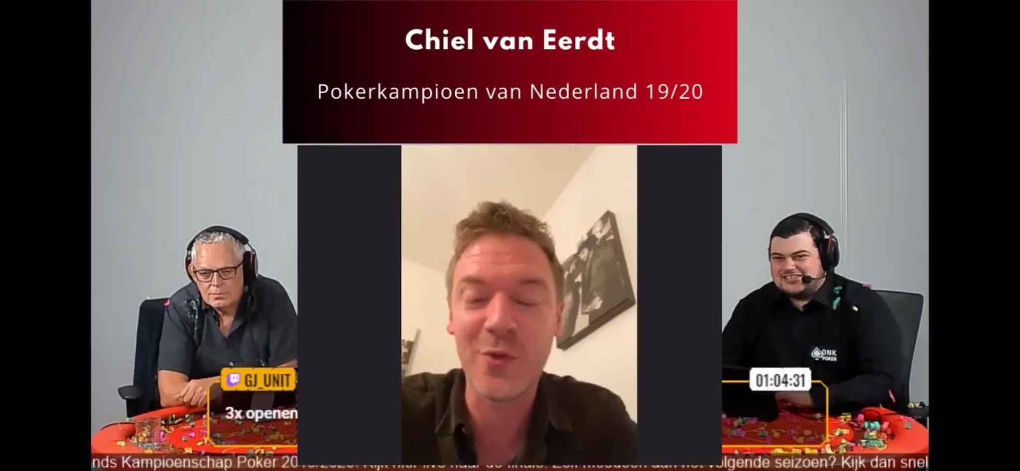 Chiel van Eerdt wint Open Nederlands Kampioenschap Poker