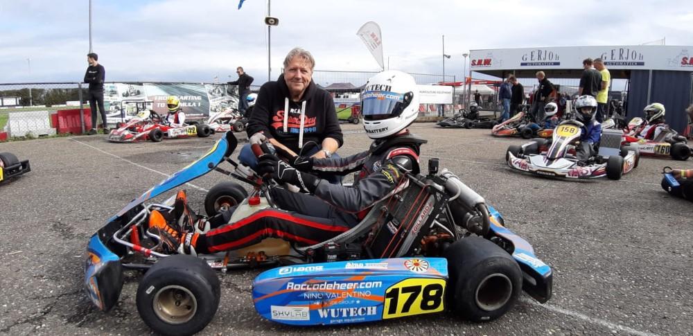 Mooie podiumplek in nieuwe kartklasse voor Rocco de Heer