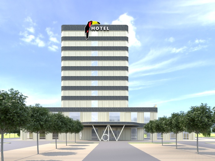 Start bouw hotel in de Harnaschpolder