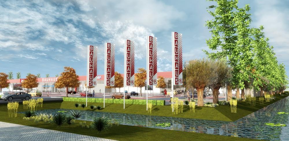 Eerste paal nieuw bouwcentrum Den Hoorn in de grond